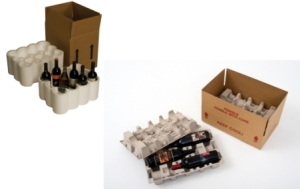 "Most ""approved"" wine shippers have fiber or styrofoam bottle inserts"
