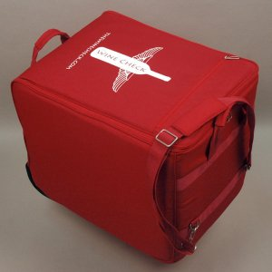 The Wine Check - a popular luggage-style wine shipper