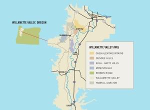 Wilammette Valley Map